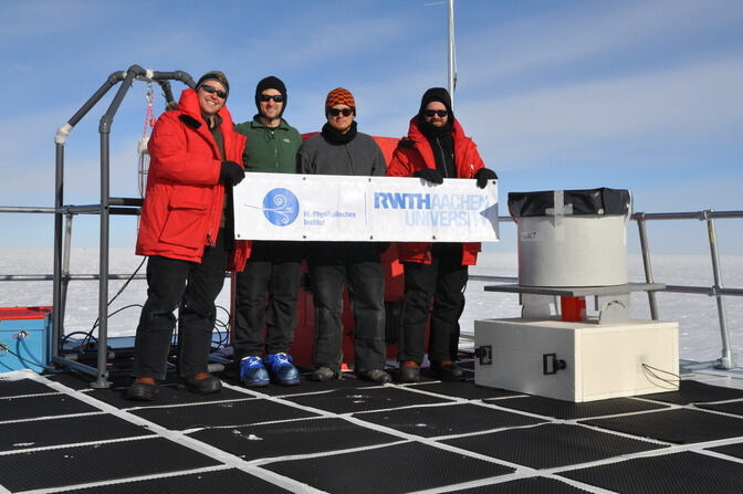 Leif Raedel at the South Pole