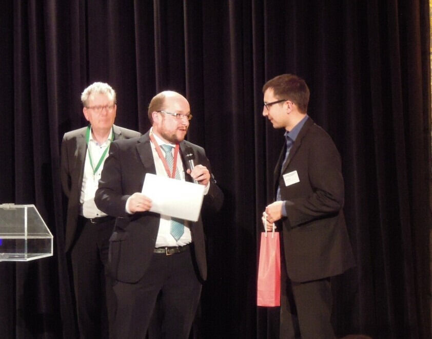 Michael Alders gets his poster-award