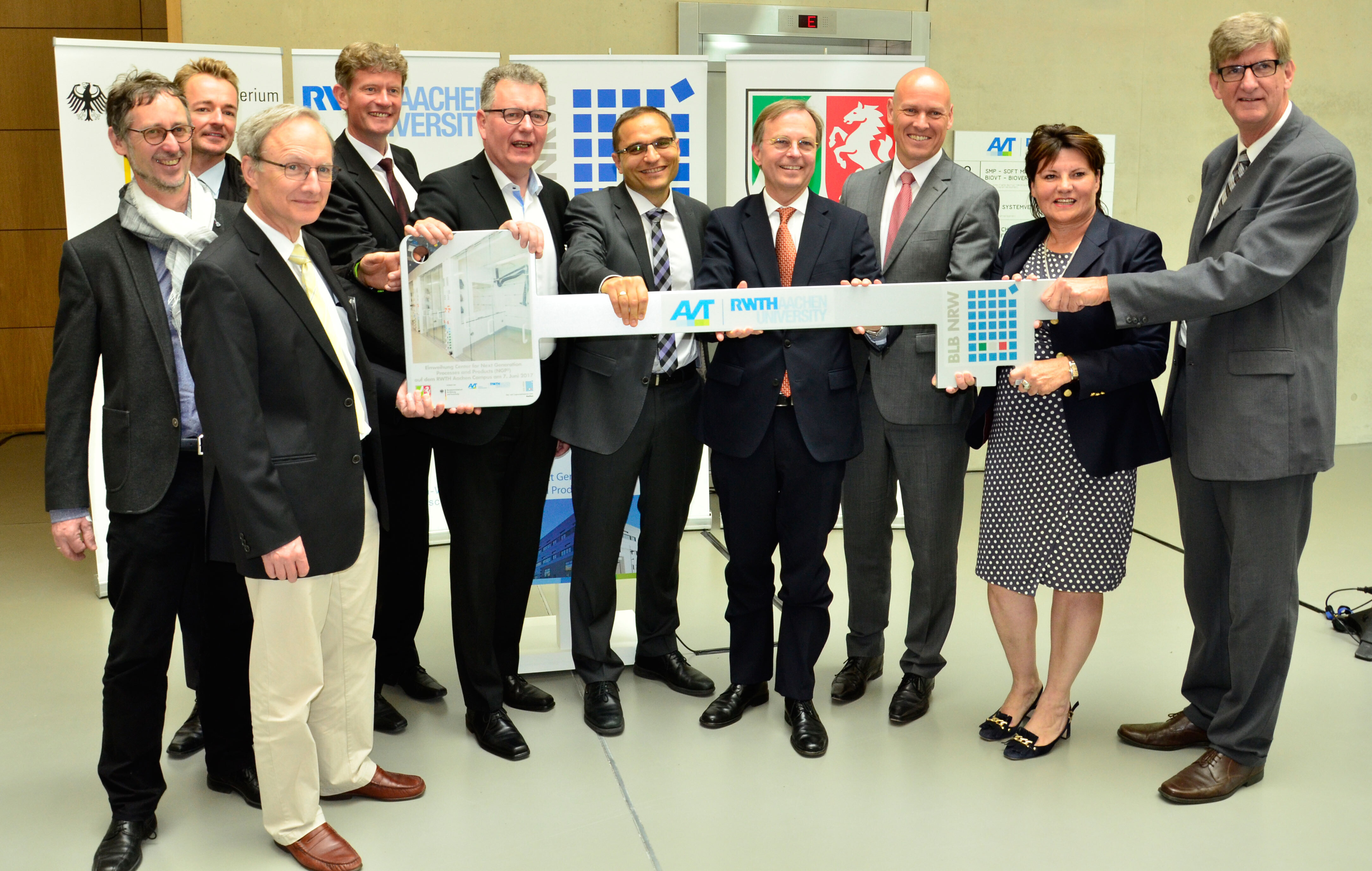 Ceremonial opening of new home for process engineering in Aachen through representatives of politics and science
