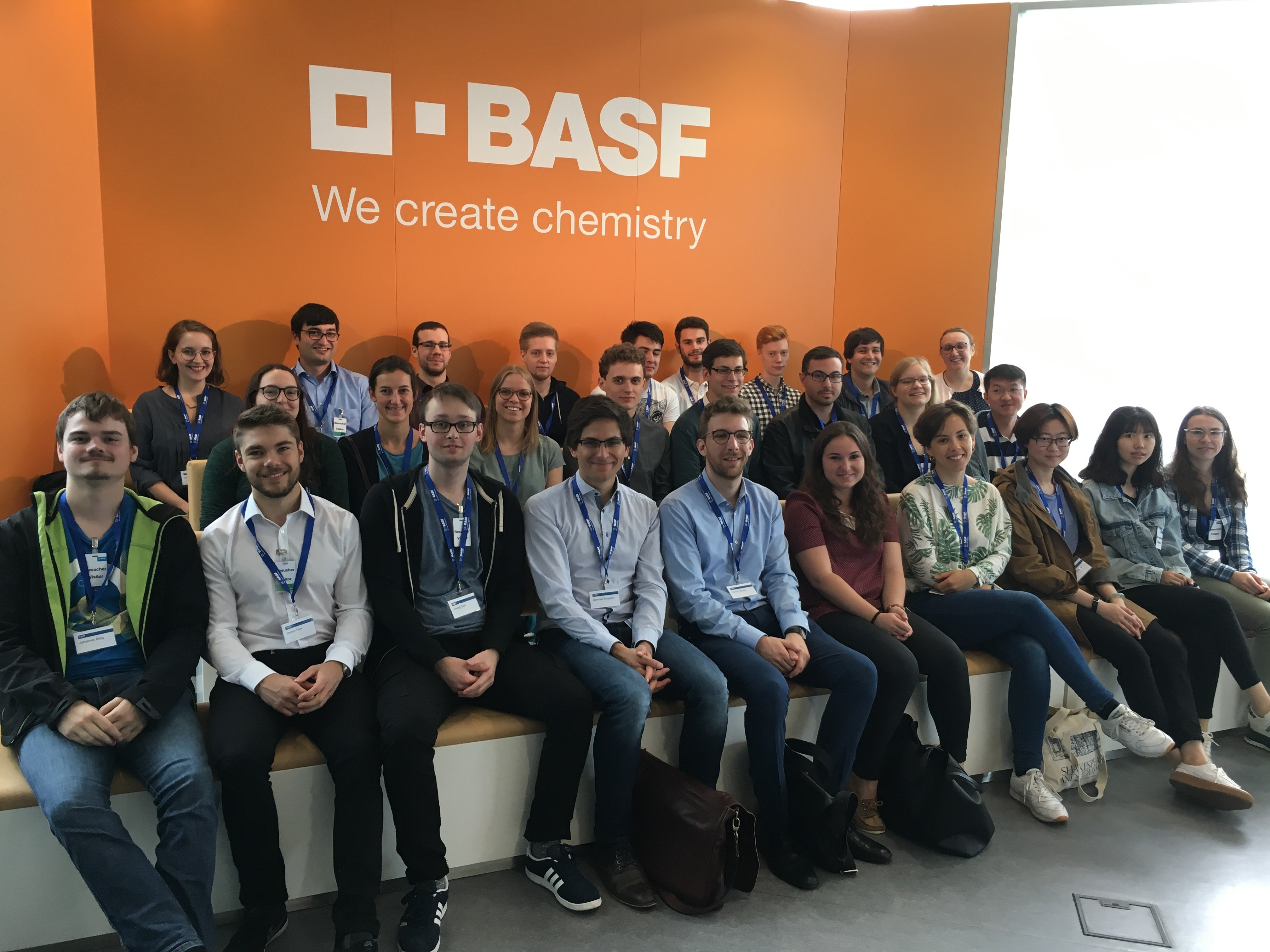 A group of AVT people at BASF