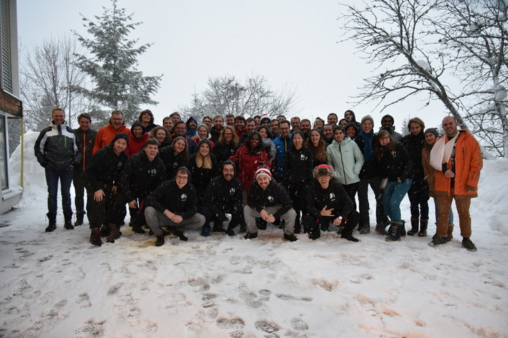 Group photo of CVT on Winterschool