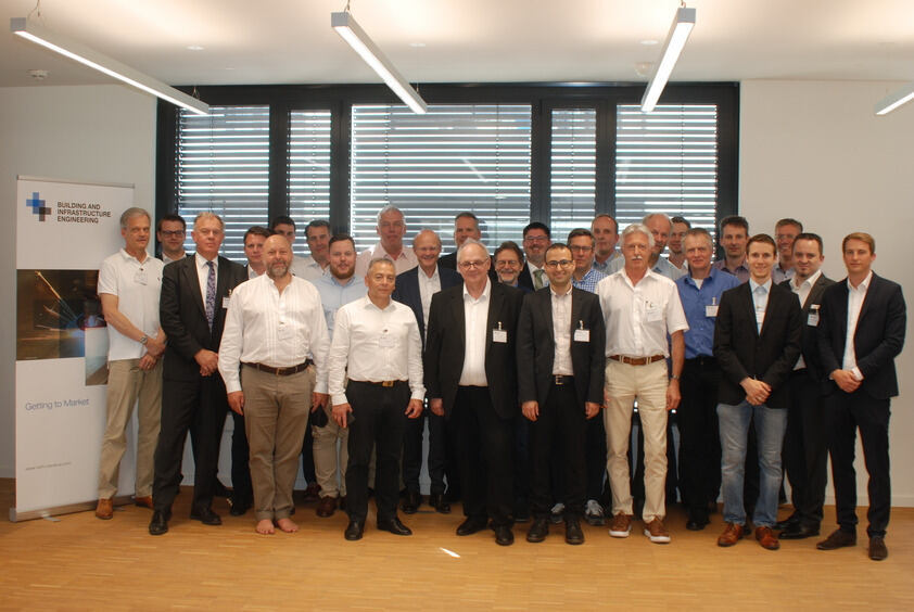Representatives of the enrolled companies and the interdisciplinary team of scientists at the first center meeting on June 18th