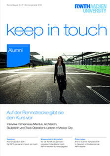 "Cover of the ""keep in touch"" magazine"